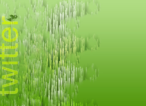 Twitter abstract background green