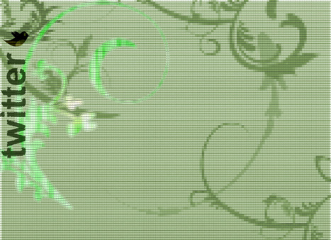 Twitter abstract background green3