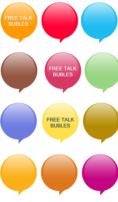 Download your Free Talk Bubles