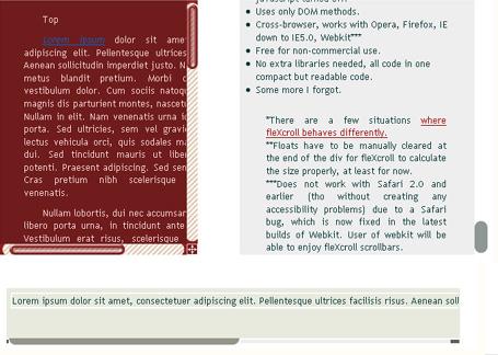 Custom Javascript Scrollbars - fleXcroll