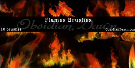 Flames Fire Photoshop Brushes