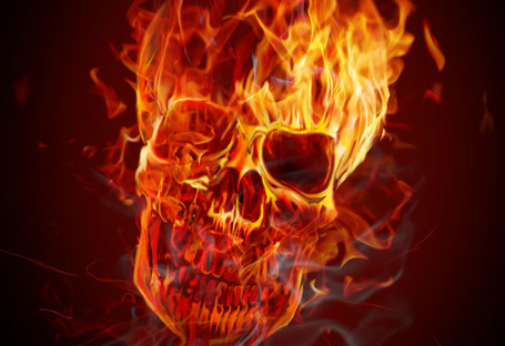 How to Create a Hellacious Flaming Skull in Photoshop