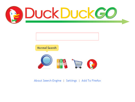 New search engine-Duck Duck Go