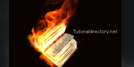 Setting a Book on Fire Tutorial in Photoshop