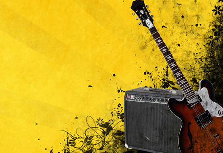 The Guitar – Grunge Poster