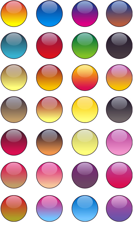 Glass balls for your icon background