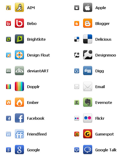 80 Social Networking Icons For Free