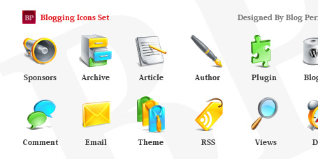 Blogging Icons for Commercial and Personal Use