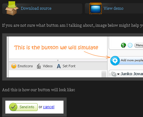 Create Skype-like Buttons with jQuery