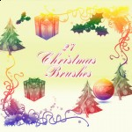 Design your Christmas Cards with Christmas Brushes