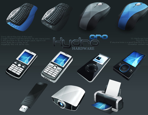 HydroPRO-HP-Hardware Icon Set from Media Design