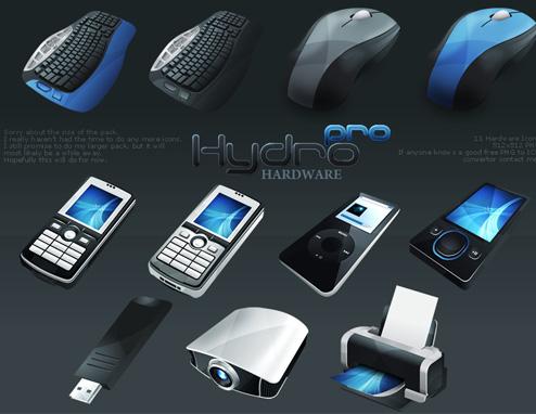 HydroPRO-HP-Hardware Icon Set from Media Design