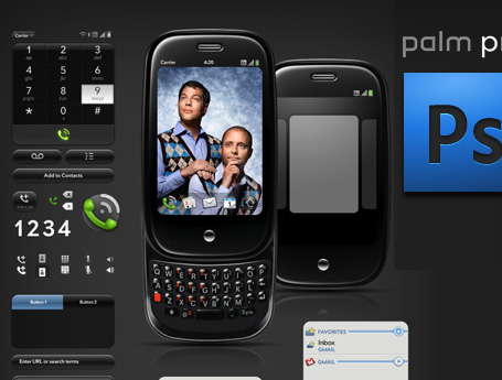 Palm Pre PSD template for designers