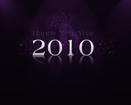 Happy new year 2010 wallpaper - Violet