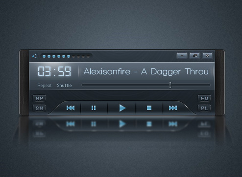A Tutorial for Designing a Sleek Audio Player Interface with Photoshop