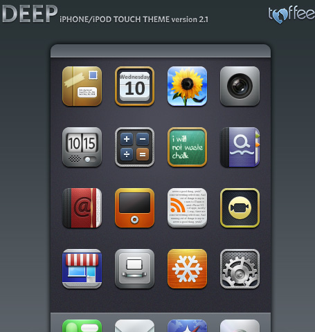 Deep 2.1 -  An another Free Iphone Icon Set