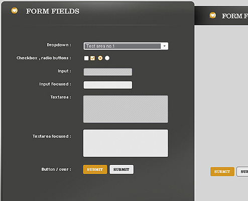 Free PSD Web Form Elements