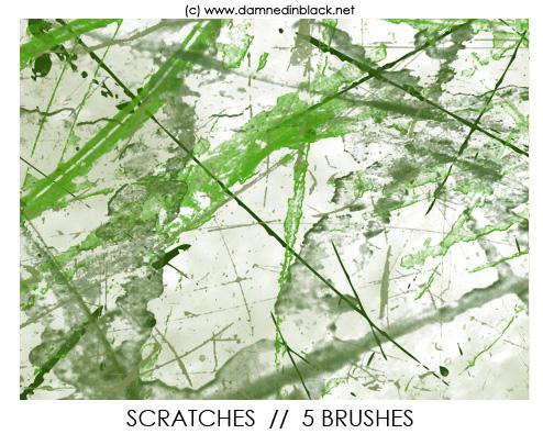 Photoshop scratche brushes from Darkmerc