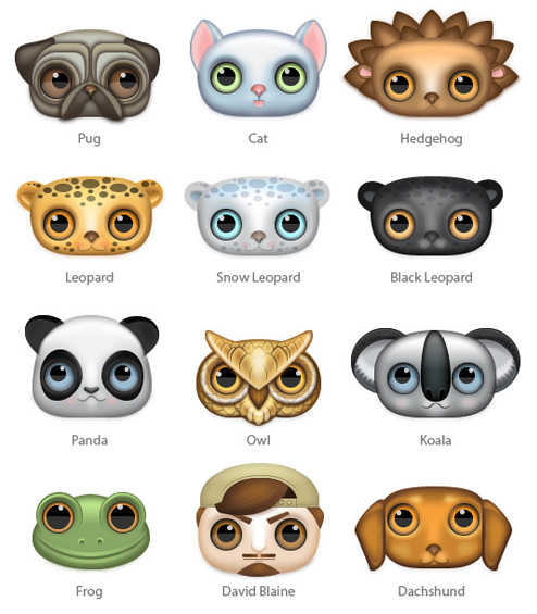 Zoom-eyed Creatures Icon Set from Turbomilk