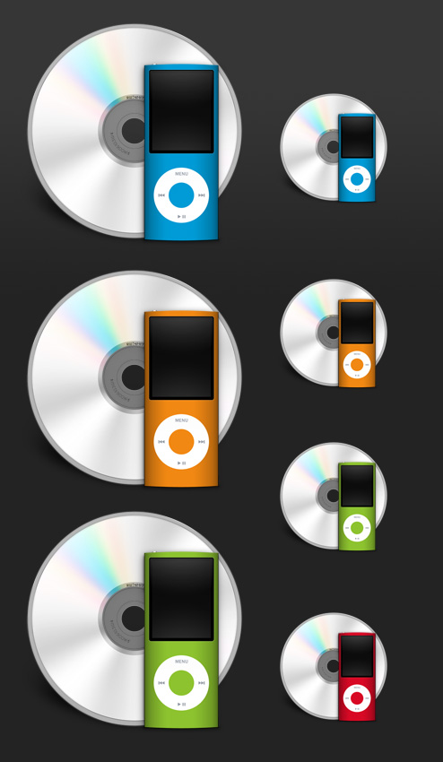 iTunes Minuet Icons Set for Free