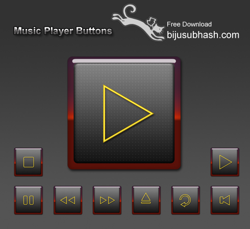 Free Music Player on Music Player Icon Set     Free Download   Bijusubhash Com