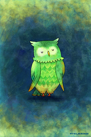 A green owl - by atelier302