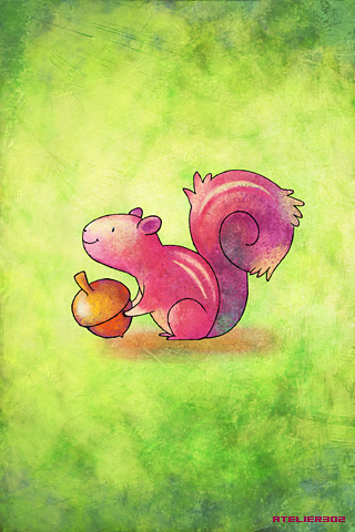 A little pink squirrel - by Atelier302