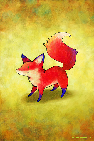 A red fox - by Atelier302