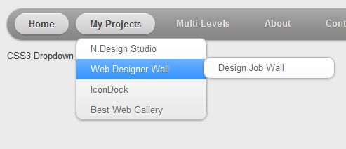 CSS3 Multi-Level Mac-Like Dropdown Menu