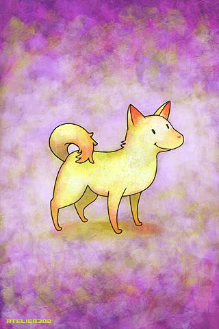 Japanese dog 'Kishu-ken - by Atelier302