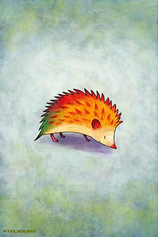 Orange Hedgehog - by Atelier302