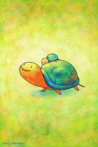 Turquoise turtles - by Atelier302