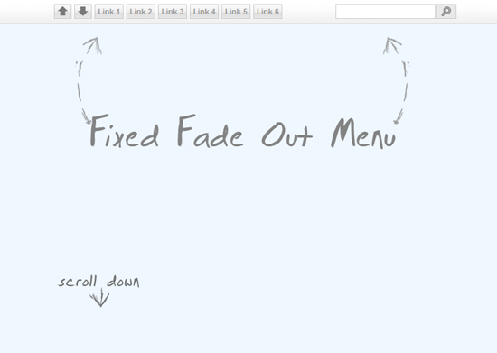 Tutorial- Fixed Fade Out Menu with CSS and jQuery