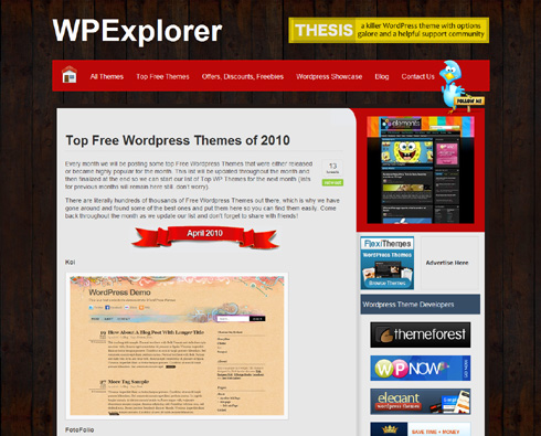 Wordpress Themes for Free of 2010