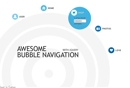 Bubble Navigation with jQuery from Codrops