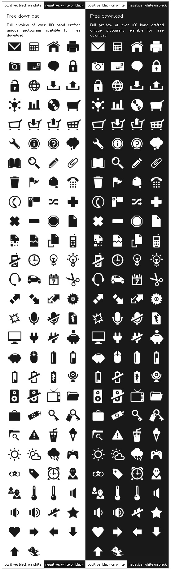 Scalable Vector Pictograms- Icons