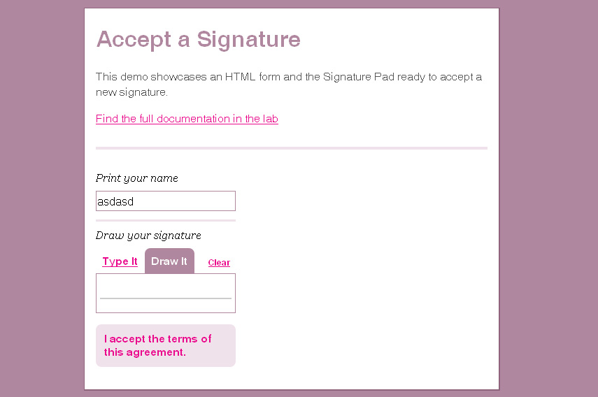 A Signature Pad for Your HTML Forms