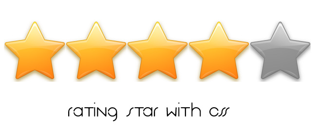 Rating Star with CSS