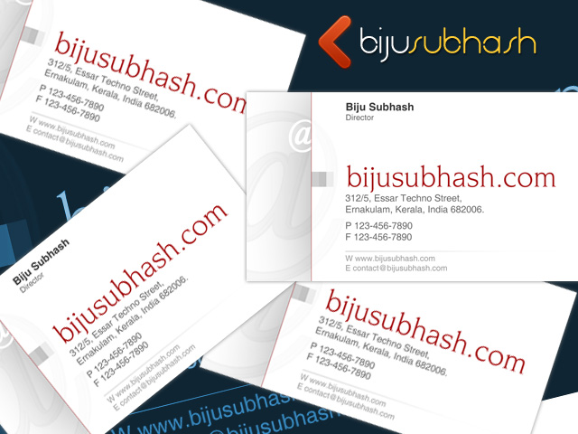 White clean business card template bijusubhash white clean business card template fbccfo