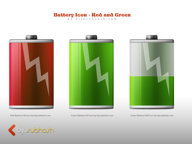 Battery Icon - Red and Green