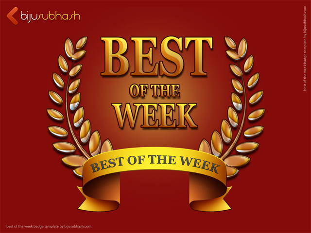 Best of the Week Badge Template