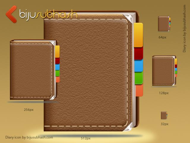 Diary Icon (PSD)