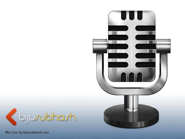 Square Microphone Icon