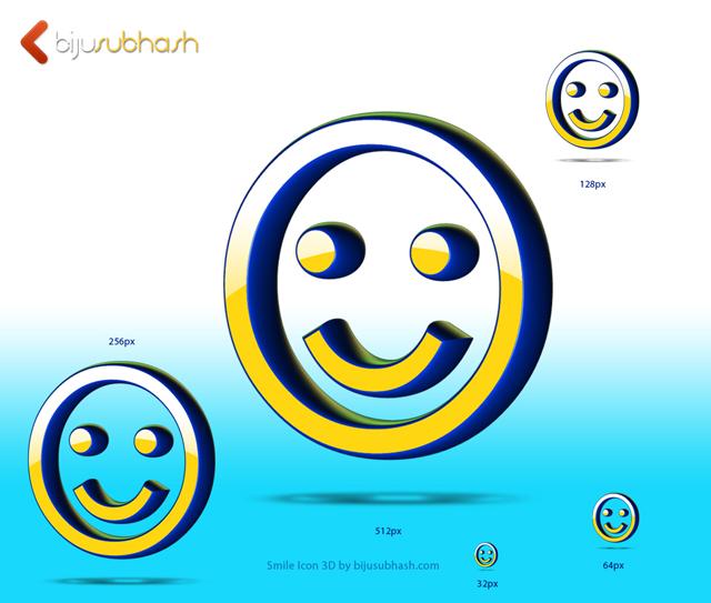 Smile Icon 3D