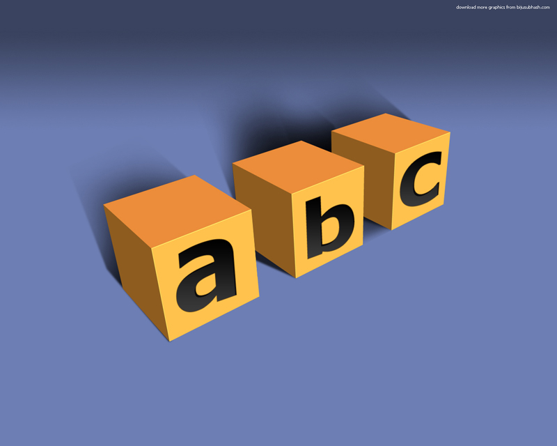 abc 3d blocks wallpaper