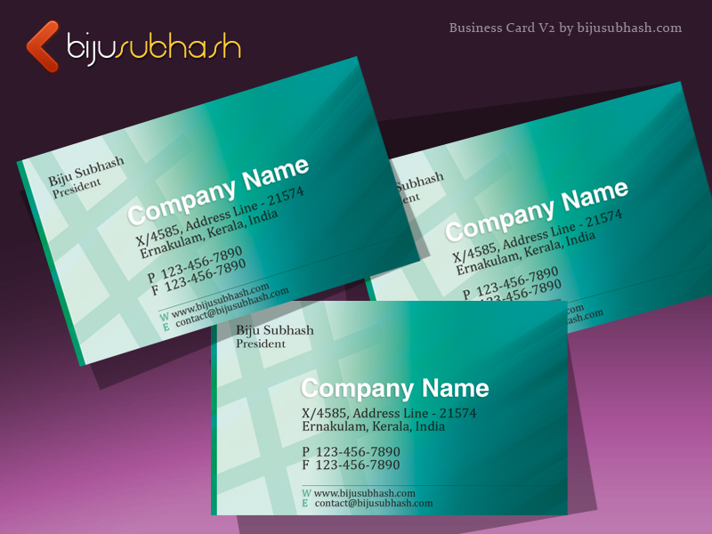 Green abstract business card template version 2 bijusubhash green abstract business card template colourmoves