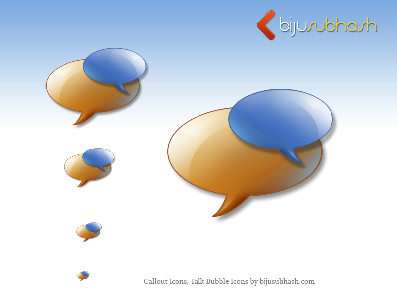 Callout Icons, Talk Bubble Icons