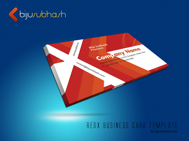 redX Business Card Template