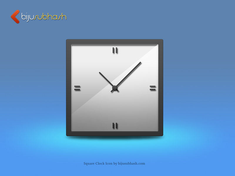 Square Clock Icon