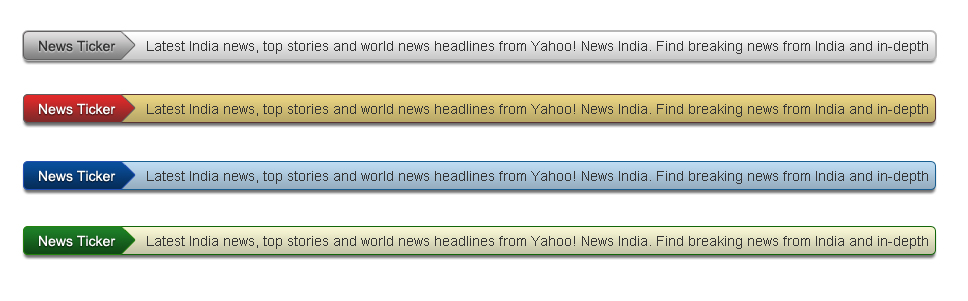 News Ticker Templates